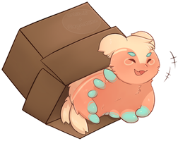 Secret Santa || Boxed Pacapillar by cristais