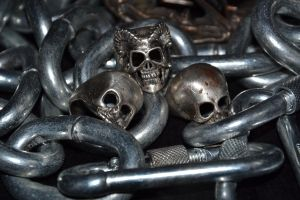 Metal skulls and chains by LuciforusArt