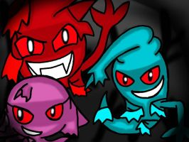 Hacked Pac-Ghosts by StrawberryStar123