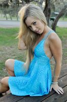 Louise C - blue dress 5 by wildplaces