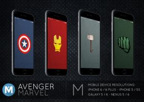 MOBILE : Avenger Marvel Wallpaper Pack by polygn