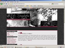 Old website design: Stonehythe RPG Website by jadedlioness