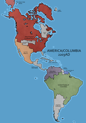 America and Columbia - AU by Neethis