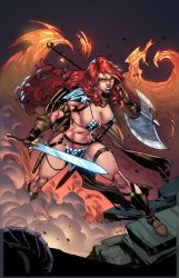 RED SONJA - Cover - color by CarlosGomezArtist
