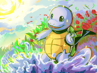 Shiny Squirtle [+SPEEDPAINT VIDEO] by ArtsyShionai