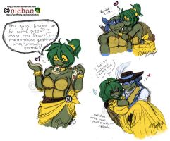 TMNT Old Toon Cuteness and Pizza Toppings by nichan