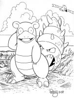 Slowbro at the sea shore