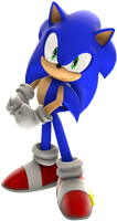 Sonic Adventure DX Sonic Render by nikfan01
