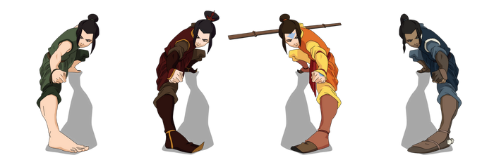 Azula of the Four Nations [Avatar][Vector] by sgcassidy