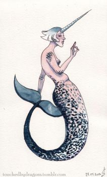 Nawhal Mermaid by TouchedbyDragons