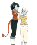 [AT] Ommetaphobia and Phobophobia - Chibis by glowdarq