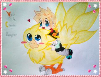 Ven and the Chocobo lalalalala by LeanneArts