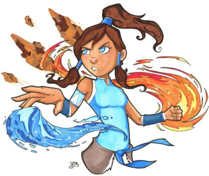 Legend of Korra Auction Piece by birdiebo