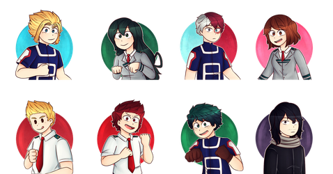 My favorite characters | BNHA | by Ary-Lyn