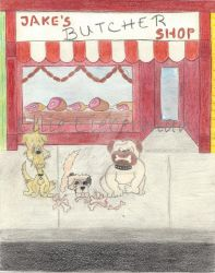 Jake's Butcher Shop in Waggles by EllieLieberman