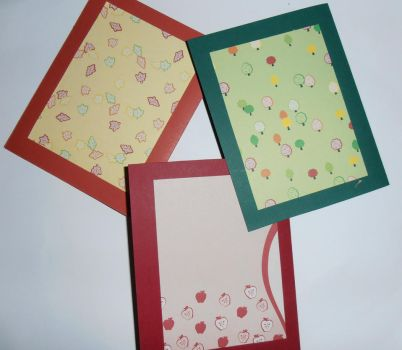 Assorted Autumn Cards Backs by Lala-lana
