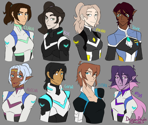Voltron OC Sketch Gifts by DragonAnalei