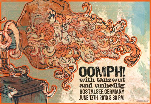 Oomph poster by dmillustration