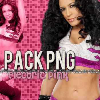 Melina -Electric Pink- Pack PNG by BiianqaaEditions