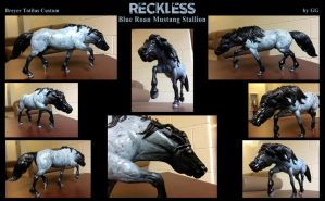 RECKLESS the blue roan mustang breyer custom by pookyhorse