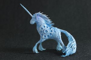 Blue steampunk unicorn II by hontor