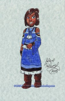 Korra Sketch Card by alex-heberling