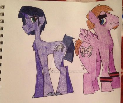 My Little Lorenzo and Chet by Chickie456