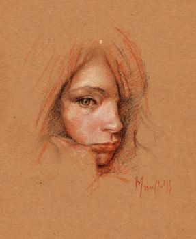Quick sketch lady study M by SILENTJUSTICE