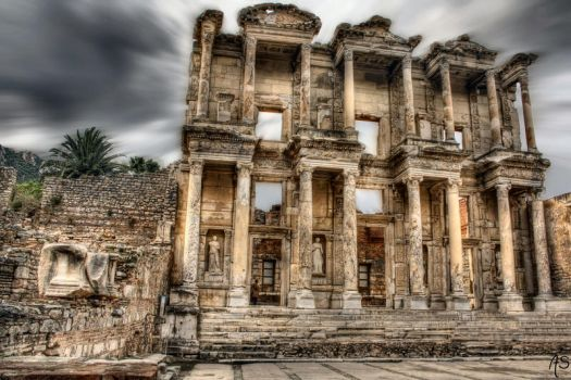 Library of Celsus  HDR by AyseSelen