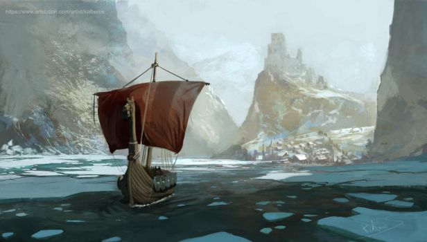 Exit from port by Kalberoos