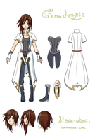 Ferra Lentin Reference Sheet by HuntingForBeasts