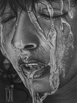 Wet face by toniart57