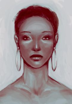 African- Painting Study by K-i-s-s-h-u