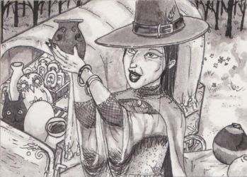 Inktober2016 Day 3 (ACEO) by Keyshe54