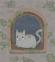 Pusheen of the Darkroot Wood by RascalWabbit