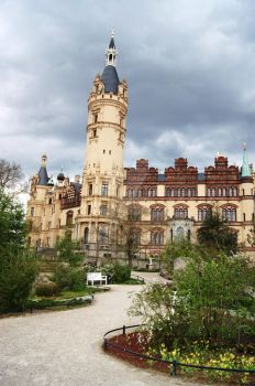 the castle of Schwerin by Myaco
