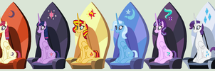 Magical Royal Sextet of Friendship by 3D4D