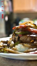 Tuna Steak with Rice and Bell peppers by enob-x