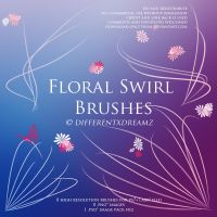 Floral Swirl Brushes by differentxdreamz