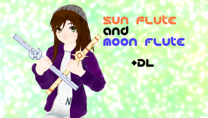 [MMD] Sun and Moon flute + DL by OmoriP