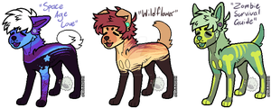 Adopt: 3 doggos OPEN! Read desc. by MonsterMeds