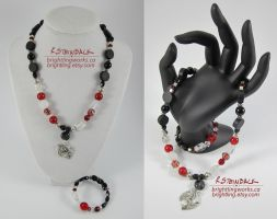 The Crane Wife, Necklace and Bracelet by brightling