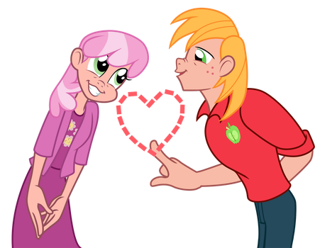 Big Macintosh and Cheerilee - Love Poison (Human) by Trinityinyang