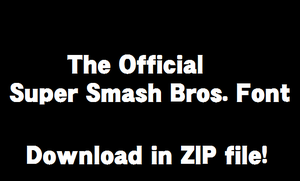 Official Super Smash Bros. Font by TheWolfBunny