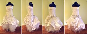 PunkRock Wedding Dress Bustled by sidneyeileen