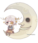 Pixel: My Moon and I by amiamalie