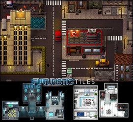 Futuristic Tiles by PinkFireFly