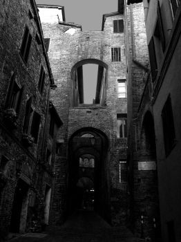 Ancient alley in Siena by cortomaltese219