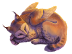 YCH: a sleeping cutie by AnastasiyaVB