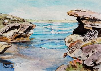 World Watercolor Month - Day 22 (Rottnest Island) by Harmony1965